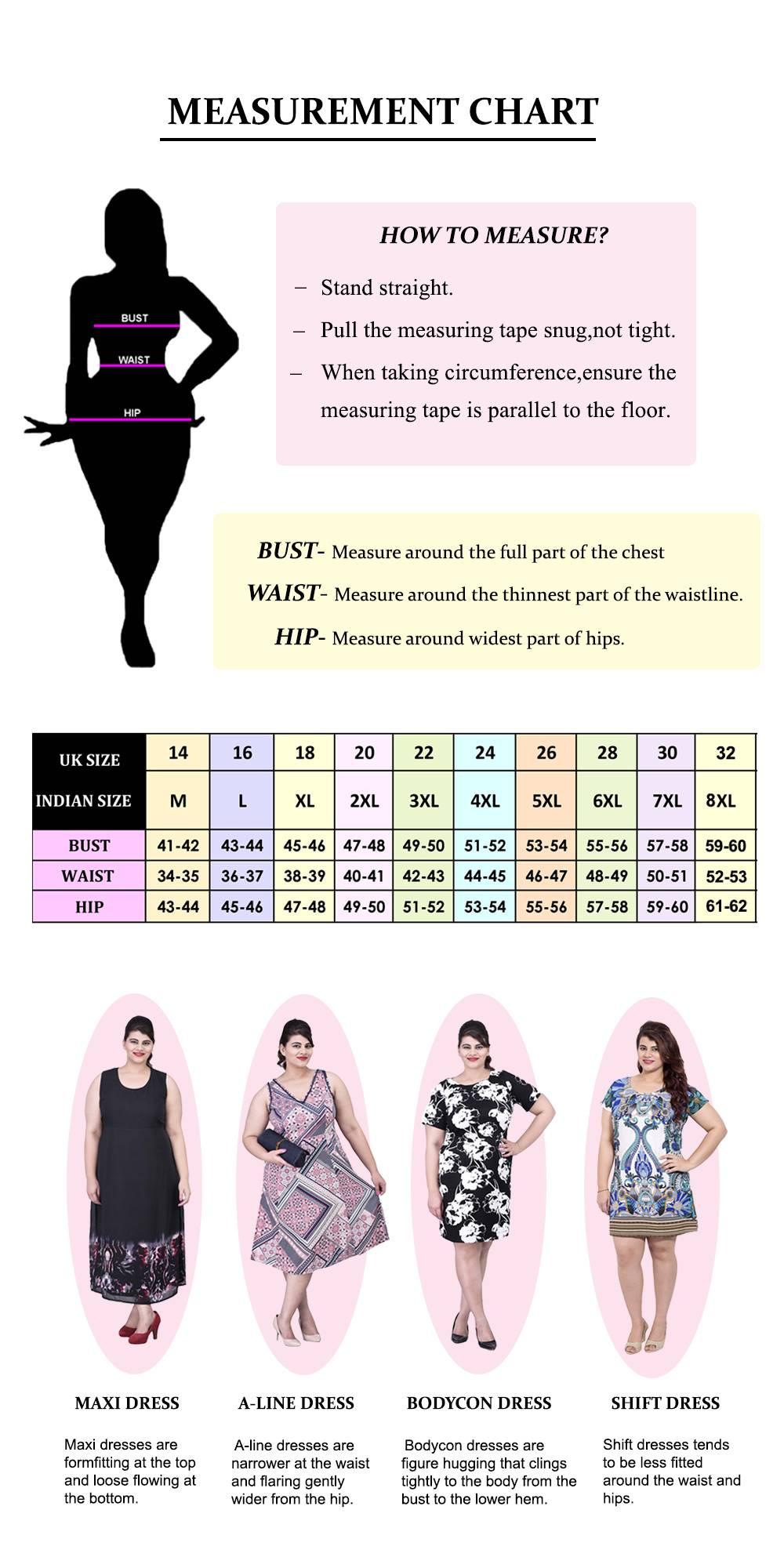 LASTINCH size chart