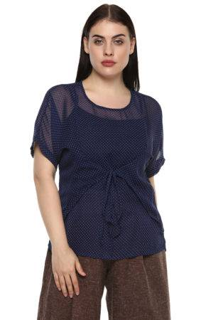 plus_size_polka_dot_front_tie_top_lastinch_western_clothing_brand_1
