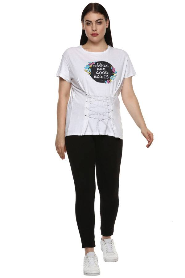 plus size White All Bodies Tshirt5