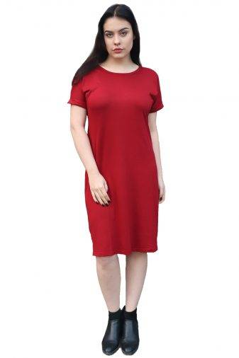 maroonshift dress