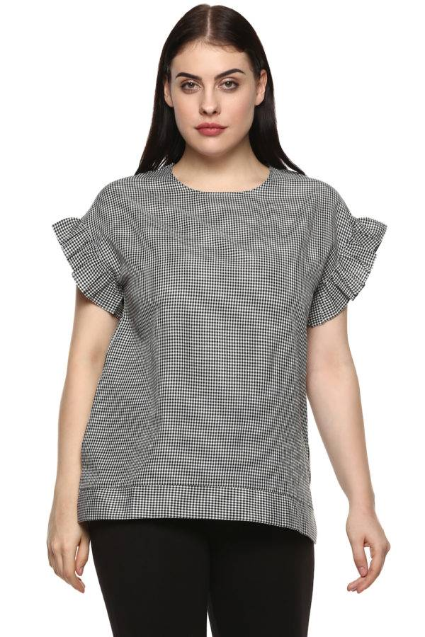 plus_size_gingham_ruffle_sleeve_top_lastinch_western_clothing_brand_6