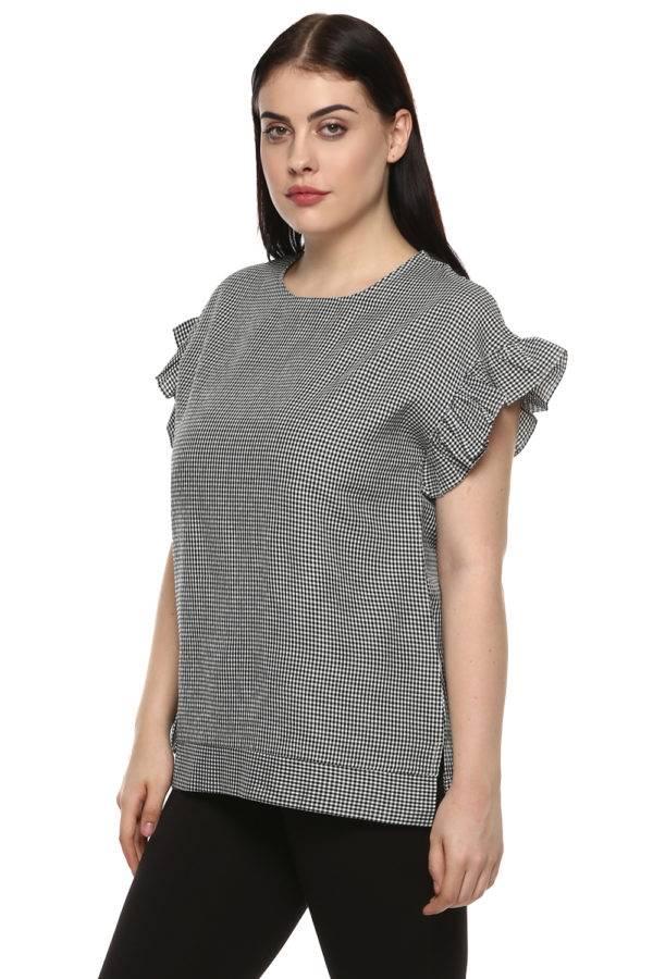 plus_size_gingham_ruffle_sleeve_top_lastinch_western_clothing_brand_4