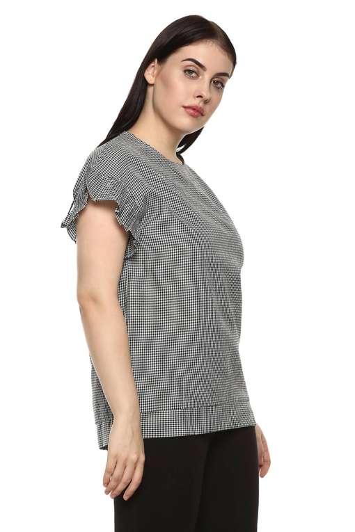 plus_size_gingham_ruffle_sleeve_top_lastinch_western_clothing_brand_3