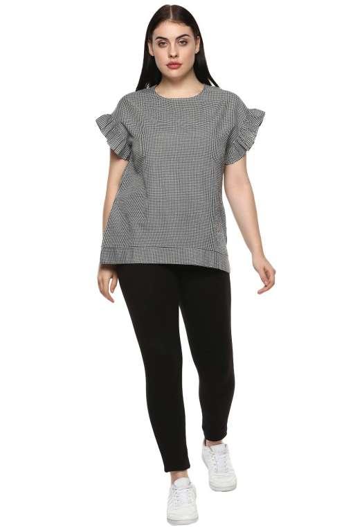 plus_size_gingham_ruffle_sleeve_top_lastinch_western_clothing_brand_1