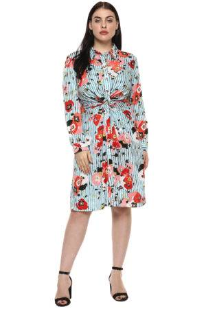 plus_size_floral_stripe_shirt_dress_lastinch_western_clothing_brand_6