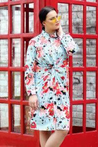 plus_size_twisted_floral_stripe_shirt_dress_lastinch_western_clothing_brand