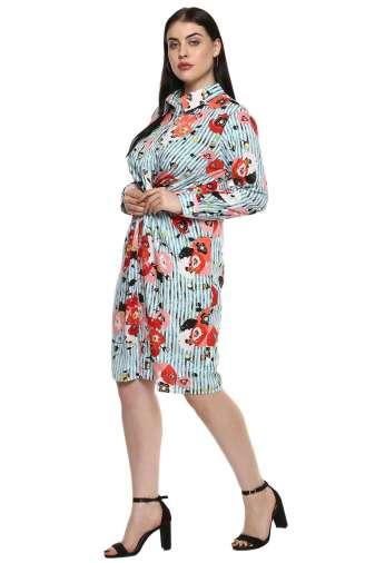 plus_size_floral_stripe_shirt_dress_lastinch_western_clothing_brand_4