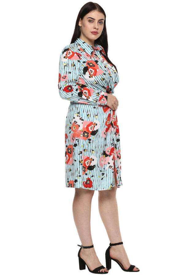 plus_size_floral_stripe_shirt_dress_lastinch_western_clothing_brand_3