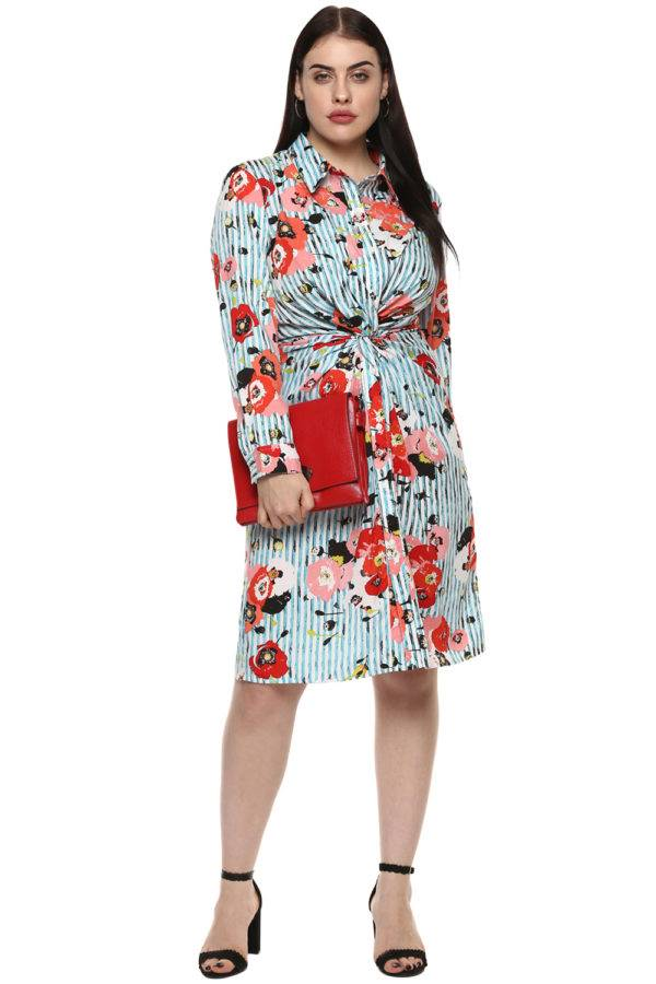 plus_size_floral_stripe_shirt_dress_lastinch_western_clothing_brand_1