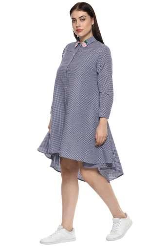 plus_size_checkered_shirt_dress_lastinch_western_clothing_brand_1