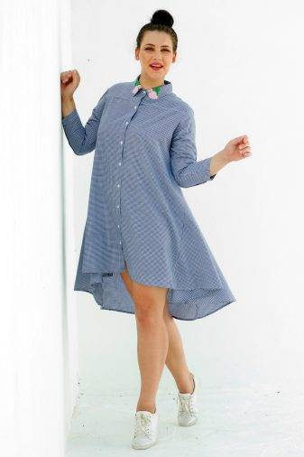 plus_size_gingham_high_low_shirt_dress_lastinch_western_clothing_brand