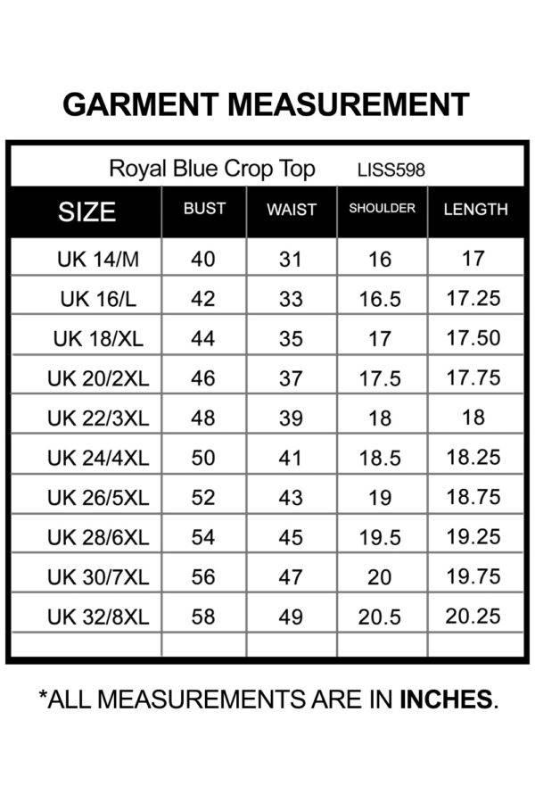 Royal Blue Crop Top_LISS598