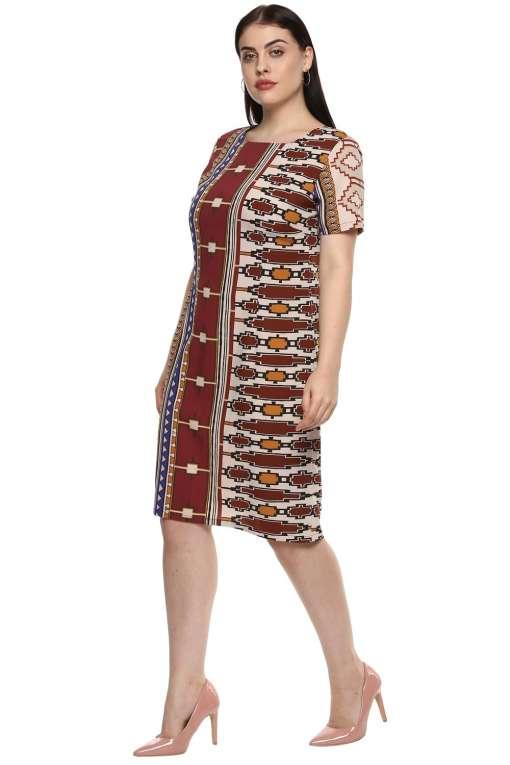 plus_size_geometric_maroon_shift_dress_lastinch_western_clothing_brand_4
