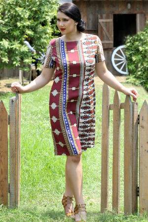 plus_size_maroon_beige_shift_dress_lastinch_western_clothing_brand
