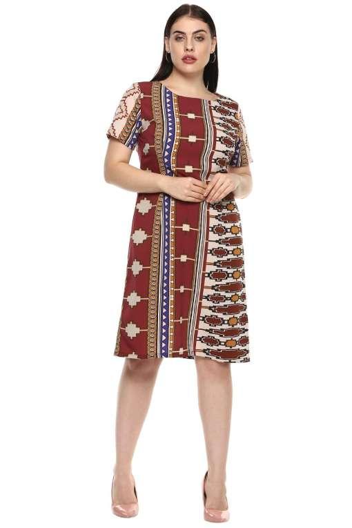 plus_size_geometric_maroon_shift_dress_lastinch_western_clothing_brand_1