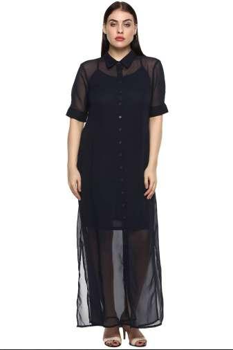 plus size blue shirt gown