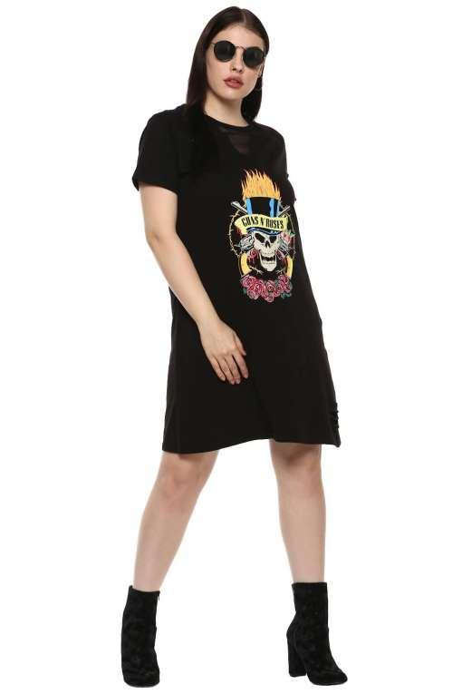 Gun and Roses Tshirt Dress2