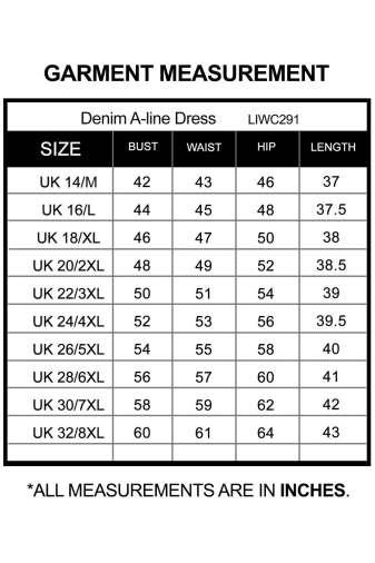 Denim Lookalike A-line Dress_LIWC291