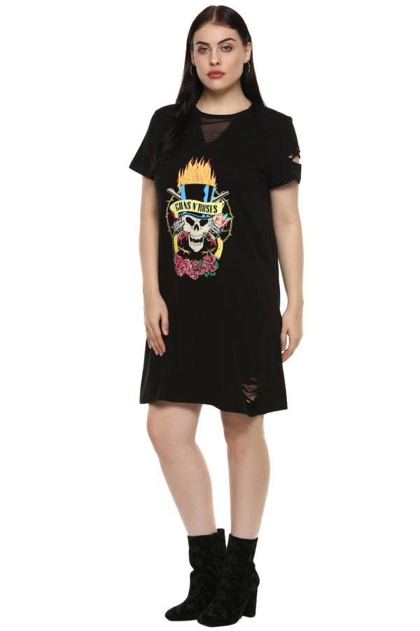 Gun and Roses Tshirt Dress4