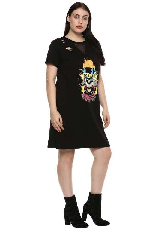 Gun and Roses Tshirt Dress5