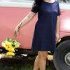 plus size Denim Lycra A-line Dress
