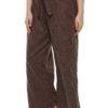 Plus Size LASTINCH Brown Linen Palazzo4