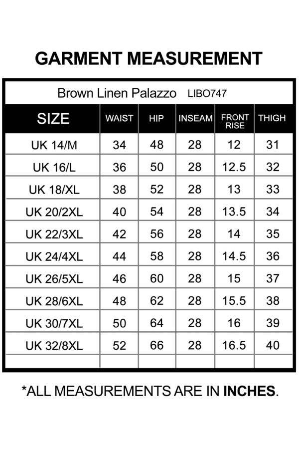 Brown Linen Palazzo_LIBO747