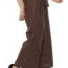Plus Size LASTINCH Brown Linen Palazzo5