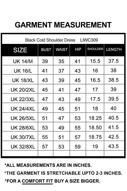 Plus Size Black Cold Shoulder Dress-6
