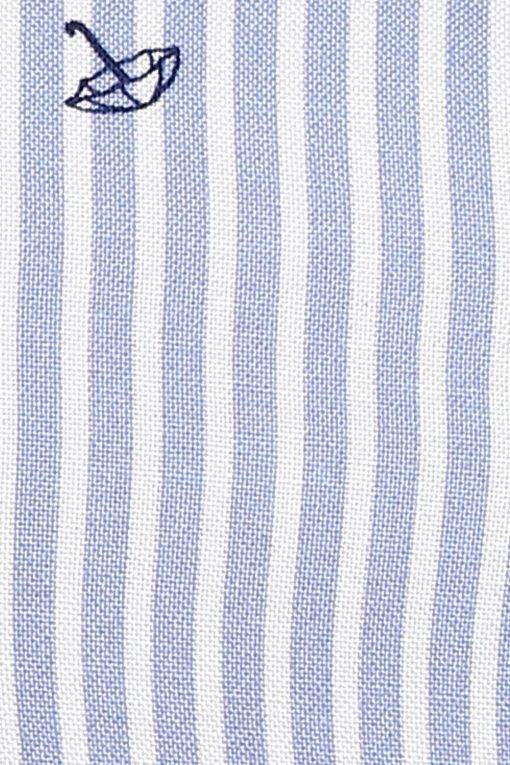 Plus Size Stripes Long Shirt-5