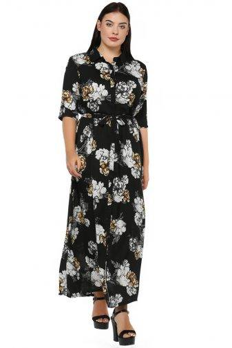 Plus Size Floral Maxi Dress-1
