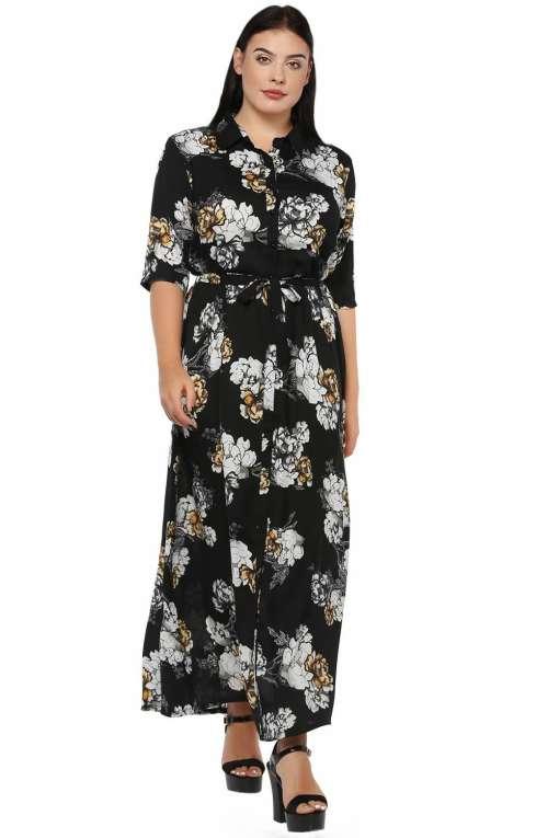 Plus Size Floral Maxi Dress-1