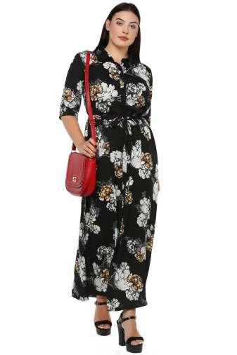 Plus Size Floral Maxi Dress-2