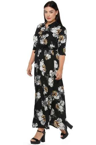 Plus Size Floral Maxi Dress-3