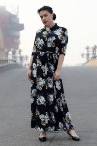 Plus Size Floral Maxi Dress