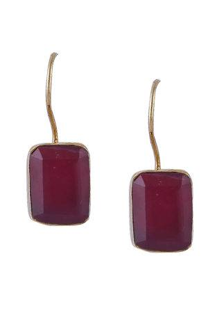 Ruby Red Stone Hooked Studs