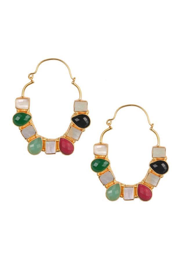 Multicolour Stones Danglers