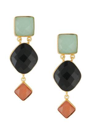 Royal Three Stone Earring-1