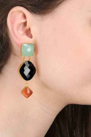 Royal Three Stone Earring-2
