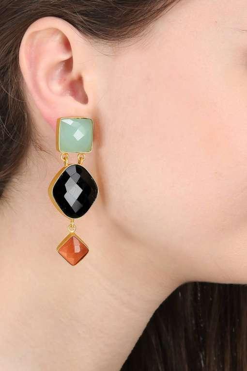 Royal Three Stone Earring-2