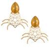 Yellow Stone Geometric Shape Earring