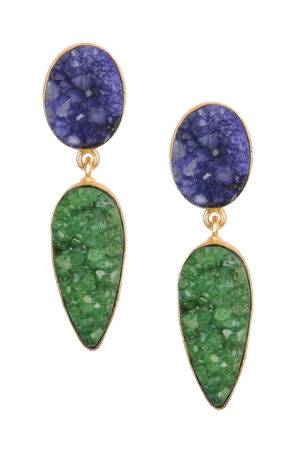 Blue & Green Natural Stones Earrings