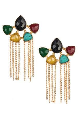 Panchantra Tassle Earrings-1