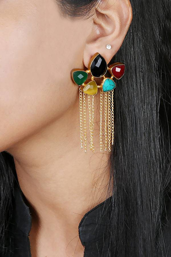 Panchantra Tassle Earrings-2