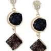 Blue & Brown Stones Earrings