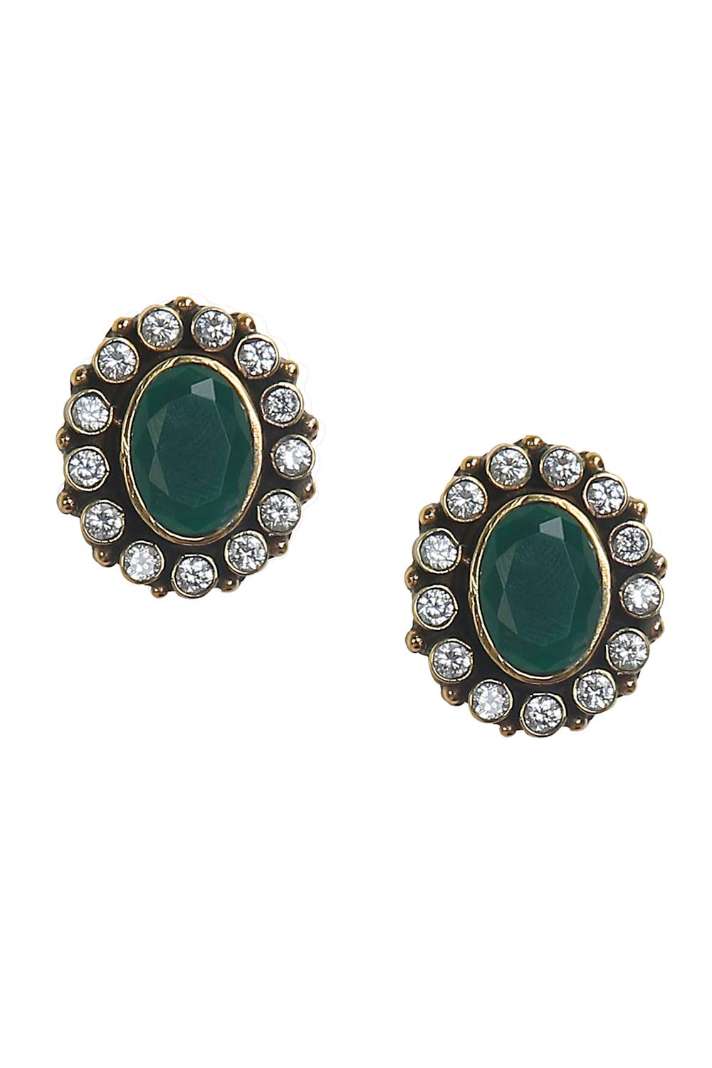 white stone com earrings stud shop green stones gold with emerald caellisar