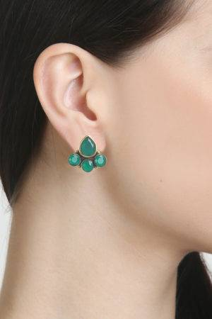 Emerald Green Drop Stud