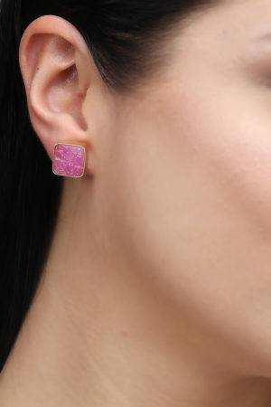 Rose Quartz Stones Stud