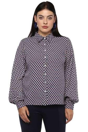 Bubble Sleeve Shirt -1
