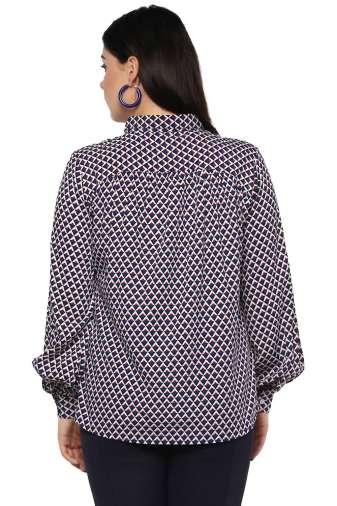 Bubble Sleeve Shirt-4